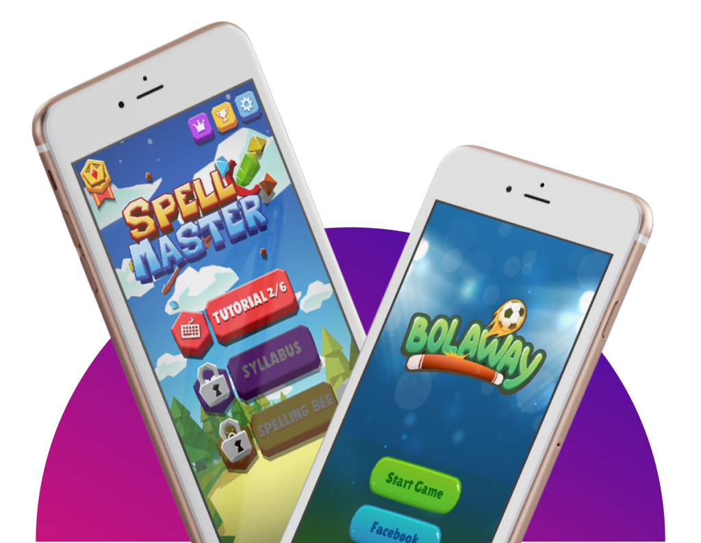 2 Phones - Spell Master & Bolaway Menu Screen