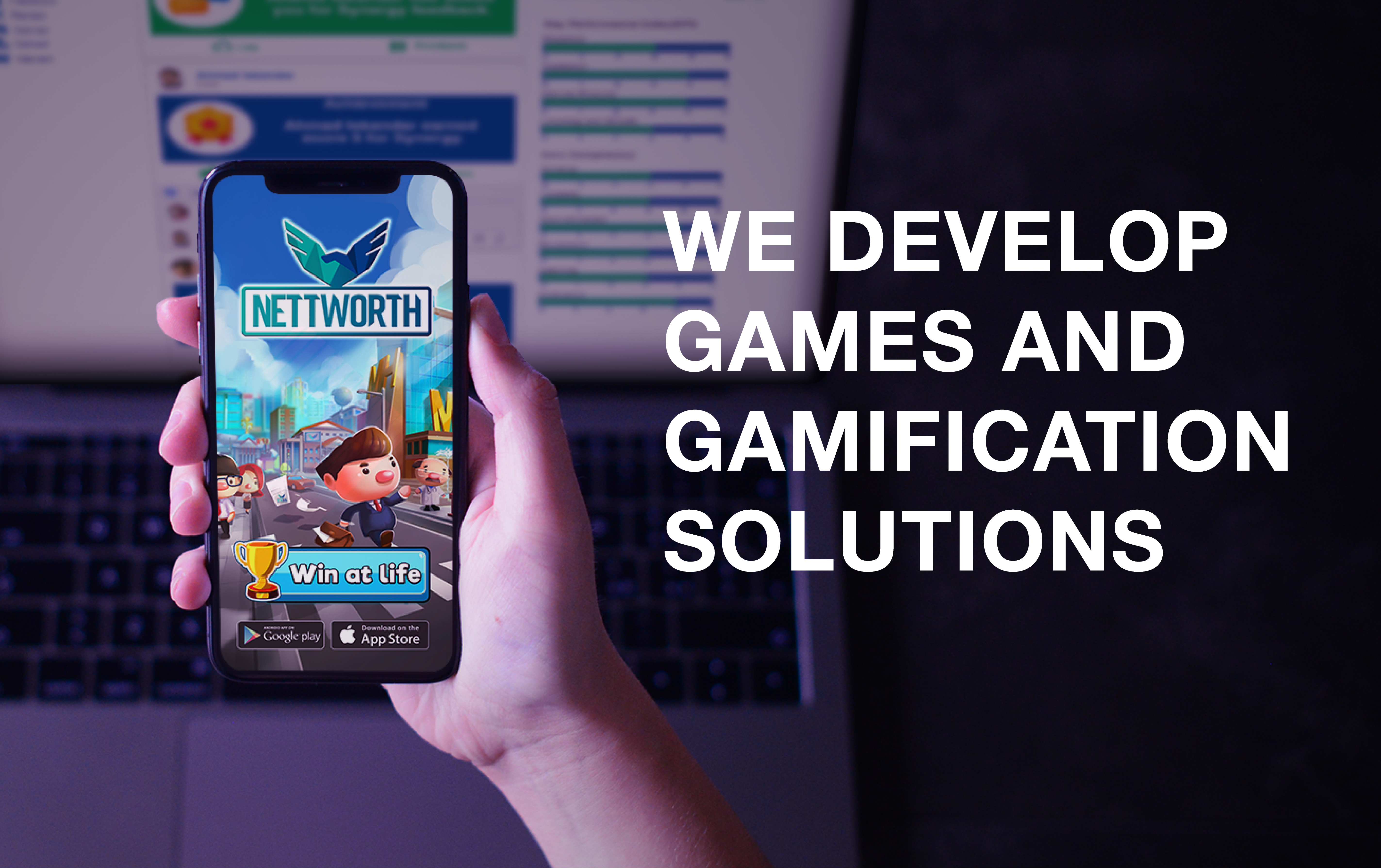 "Main Image ""We Develop Games and Gamification Solutions"""